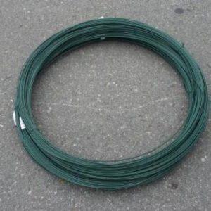 IJzerdraad groen geplastificeerd